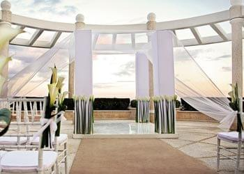 Rooftop Patio Ceremony in Cancun